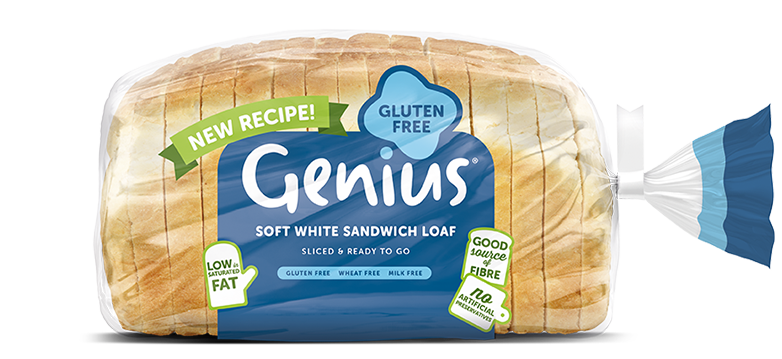 Genius is one of best low-FODMAP bread products you can buy in Australia