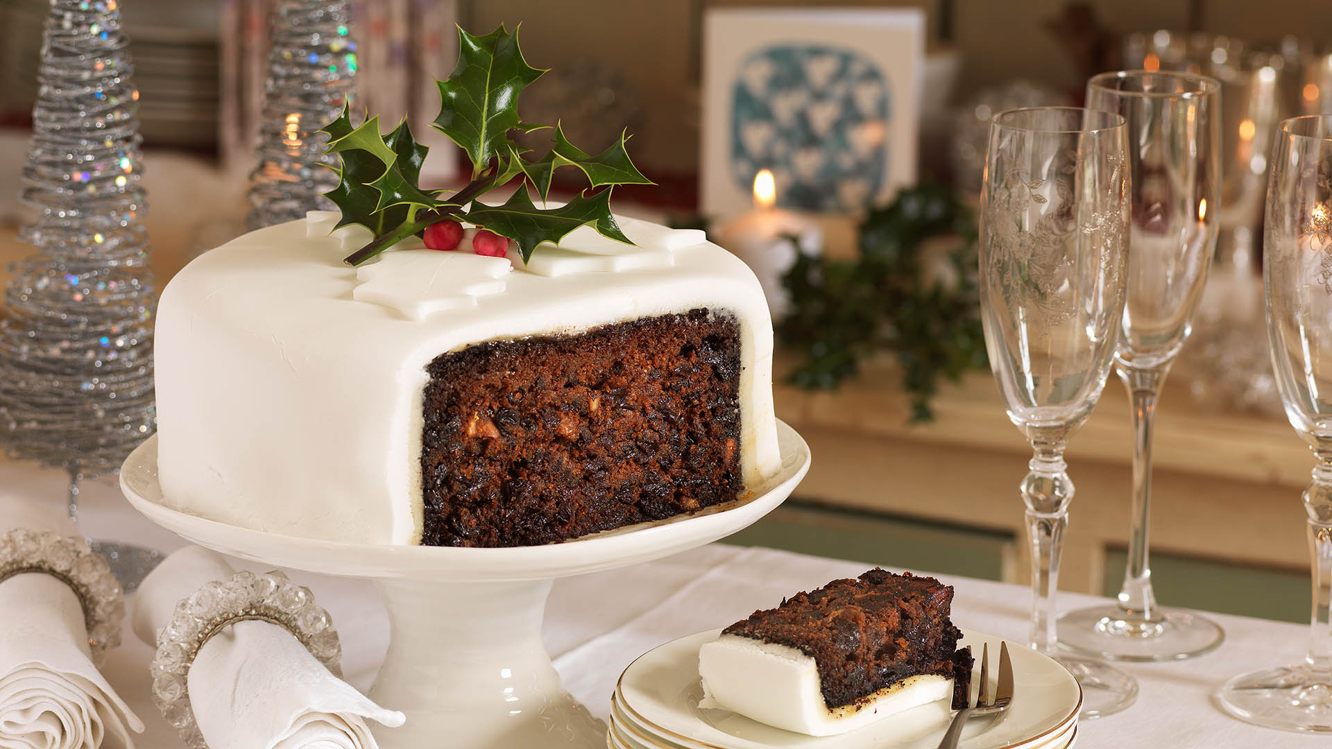 Dairy Free Christmas Cake